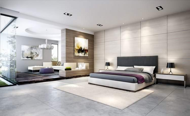 idées-chambre-coucher-moderne-spacieuse-gris-perle - Twins Immobilier